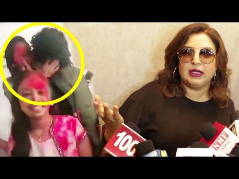 Farah Khan's ANGRY Reaction On Papon KISSING Minor