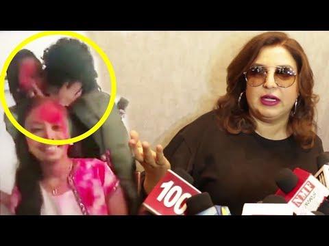 Farah Khan's ANGRY Reaction On Papon KISSING Minor