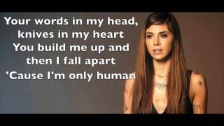 Christina Perri - Human Karaoke Cover Backing Track + Lyrics Acoustic Instrumental