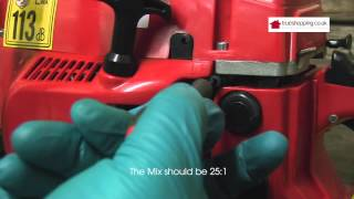 4. Setting Fuel Mixture to Factory Settings,  Chainsaw