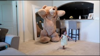 Daddy pranks baby with huge teddy bear...JOIN THE ACE FAMILY & SUBSCRIBE: http://bit.ly/THEACEFAMILY*TURN ON OUR POST NOTIFICATIONS FOR SHOUTOUTS IN OUR VIDEOS*LAST VIDEO: https://www.youtube.com/watch?v=8EW-TM6mpaIMAKE SURE YOU LIKE, COMMENT, SHARE & SUBSCRIBE TO OUR YOUTUBE CHANNEL AND FOLLOW US ON OUR FAMILY ADVENTURES! The Ace Family store: http://acehatcollection.net STALK US :)Catherine's Instagram: https://www.instagram.com/catherinepaiz/Catherine's Twitter: http://twitter.com/catherinepaizCatherine's SnapChat: CatherinepaizAustin's Instagram: https://www.instagram.com/austinmcbroom/Austin's Twitter: https://twitter.com/AustinMcbroomAustin's SnapChat: TheRealMcBroomPO Box Address -The ACE FamilyP.O. Box 672Woodland Hills, CA91365-0672Business inquires: theacehatcollection@gmail.com