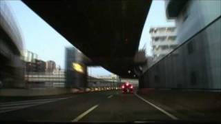 (HD) Tokyo Metropolitan Expressway in the early morning 01