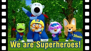 """🌟Who wants to go to the space with Pororo??! """"Pororo's Exciting Space Adventure"""" is here for you!! https://www.youtube.com/watch?v=87m6TH3XrNE🎥Wait, what?! You still haven't watched the Pororo Movie """"Porong Porong Rescue Mission""""?! https://www.youtube.com/watch?v=j7lcd9vjtog🎬To watch more Pororo's Animated shorts : https://www.youtube.com/playlist?list=PLif0g7abcI4fPQbiS4LDnno6Svsrc9Lit✨Pororo Season 5 is now on YouTube!! Click here : https://www.youtube.com/playlist?list=PLif0g7abcI4c9ZeaFh0y7856Byc96o9J_🎉Best show for kids and english learners!! Pororo English Show !!: https://www.youtube.com/playlist?list=PLif0g7abcI4eAXhzMK0uQ6pss9ipcOQMx✏️Let's learn color, number, weather with Pororo! Pororo Chant! https://www.youtube.com/playlist?list=PLif0g7abcI4fMDgaW9oNzaygz_fI8QsNf🎵Nursery Rhyme has story! : https://www.youtube.com/playlist?list=PLif0g7abcI4e_Ke1UFucJ1B_QEgaaahYc[Pororo S4] #17 Our Own Superhero StoryPororo and Crong are reading a book about a superhero. They love the story so much, that they decide to make one themselves. In the story, Pororo and Crong's friends take on new identities. What kind of exciting story will Pororo and Crong come up with?[Pororo S3] #07 I want to be a super heroPororo and Crong are playing """"super hero"""". But Pororo wouldn't take turns playing super hero. Tired of always being the villain, Crong snatches Pororo's 'Hero' mark and runs off. Crong asks Rody to play. Crong is the hero and Rody is the villain with a mask. They go around all friends' house to show what a great hero Crong is but fail. And so Crong's grand plan to come out and save the day, just like a hero should do, is a failure. Will Crong ever get a chance to play a hero?[Pororo S1] #41 I am SuperpenguinPororo and Crong decide to become a super hero after reading a super fox comic book. Pororo waits for Loopy to fall in danger so that he can come to her rescue. But when Pororo got tired of waiting, he made a trap for Loopy to fall in. By accident, Pororo and Crong fa"""