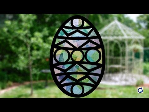 Oeuf de Pâques (vitrail en papier)