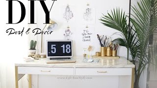 5 EASY DIY Desk Decor & Organization IKEA Hacks | ANN LE