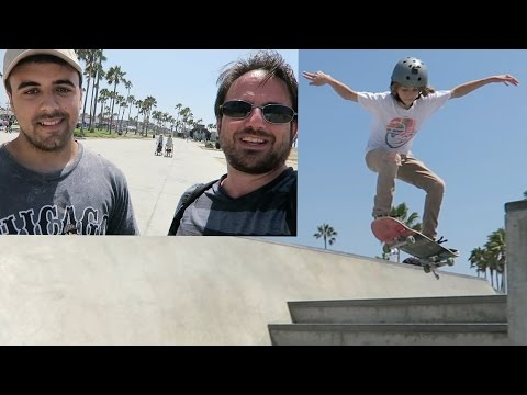 Meeting Joseph Costello at Venice Beach Skate Park!