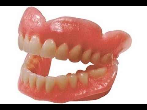 Так делают искуственные зубы