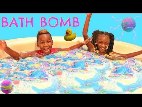 FUN BATH BOMB CHALLENGE!!!!