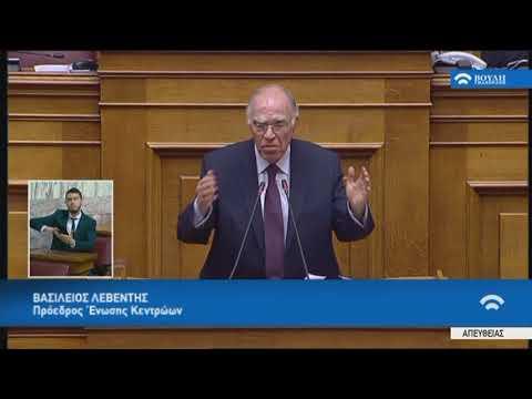 Δευτερ.Β.Λεβέντη(Πρό.Ένωσης Κεντρώων)(Περιεχ.κρίσιμων συζητήσεων Κυβέρνησης-Δανειστών)(23/05/2018)