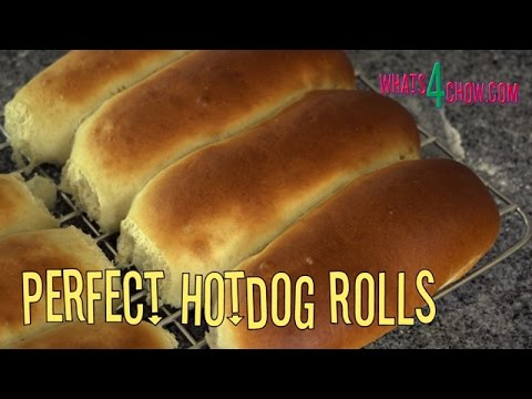 Perfect Hotdog Rolls. Soft and Flavorful Hotdog Buns - Easy Recipe by Whats4Chow.com