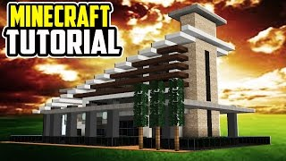 Minecraft Tutorial: How To Build a MODERN HOUSE | Mansion Tutorial [ How To Make ] 2016