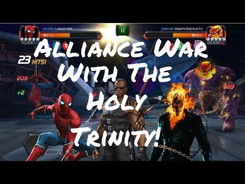Alliance War With The Holy Trinity! Blade/sparky/gr - Marvel Contest Of Champions