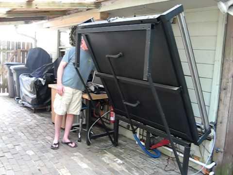 Plasma Table Folding Up - Leigh's Garage