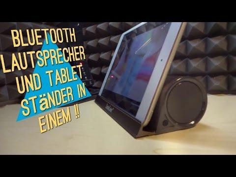 Bluetooth Lautsprecher & Tablet Stand in einem - Speaker Stand von LuguLake   Test/Review