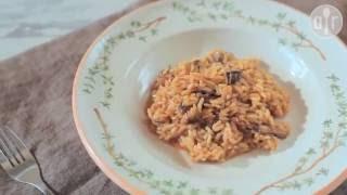 Risotto clásico con hongos (risotto ai funghi)