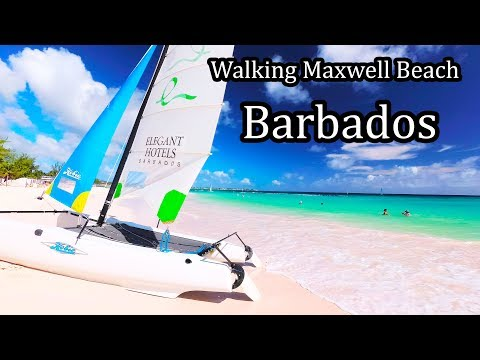 4K - Barbados 2017 -  Walking Maxwell Beach (Sandals Resort)  - Sept