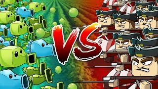 Minecraft | 500 British Soldiers vs 500 PVZ Plants! (Plants vs Zombies Massive Mob Battle)