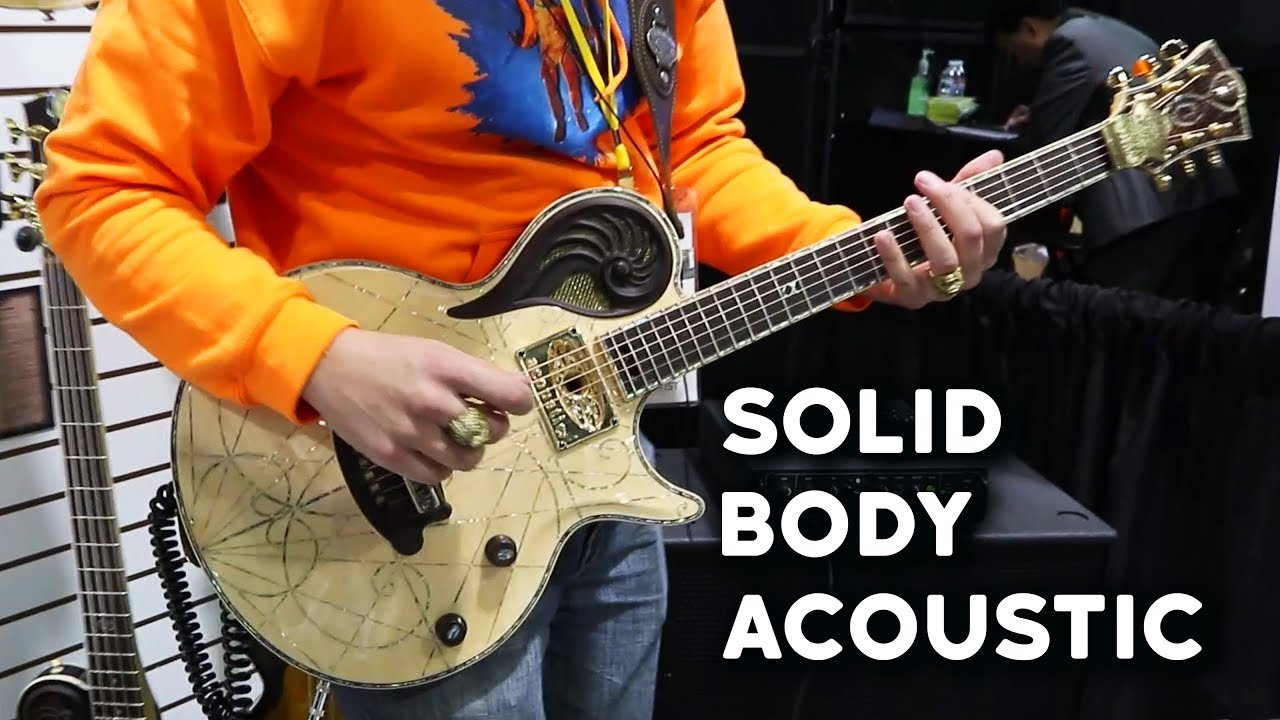 Solid Body Acoustic by Universum Guitars (namm 2018)