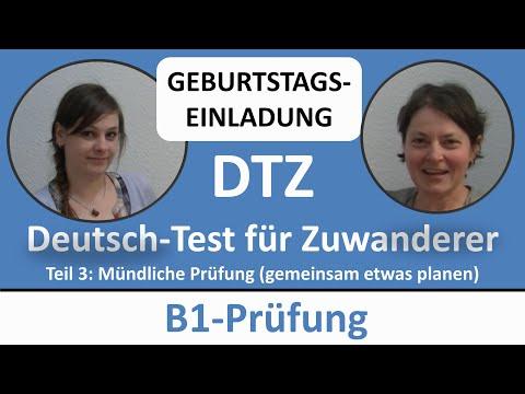 Deutsch lernen: B1-Prüfung (DTZ) -- mündliche Prüfung -- (GEBURTSTAG) gemeinsam etwas planen