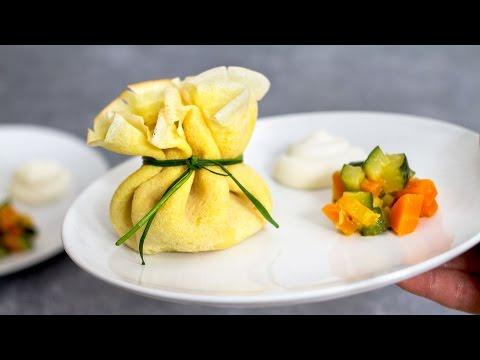 fagottini di crepes farciti con maionese e verdure - ricetta