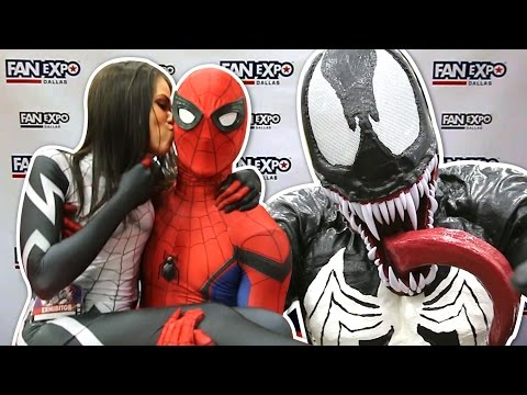 Spider-Man VS Fan Expo Dallas 2017 VS Pretty Ladies VS VENOM
