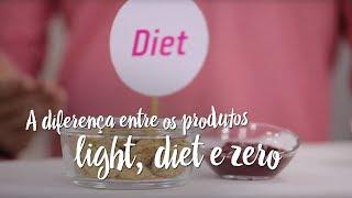 A diferença entre os produtos light, diet e zero