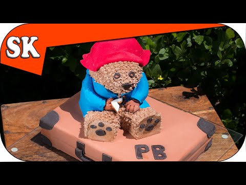 fondant suitcase cake - Paddington Bear the movie is now showing in the cinemas. Paddington has a soft spot in my heart so I thought it would be fun to make a cake. Here is the link...