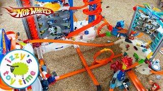 Video Cars for Kids | Hot Wheels MEGA CITY Fast Lane Playset | Fun Toy Cars for Kids Pretend Play MP3, 3GP, MP4, WEBM, AVI, FLV Desember 2017