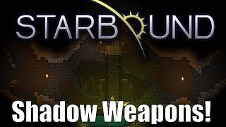 What's up guys! Check out these shady new shadow weapons as well as my entry for the custom weapons contest! Don't forget to go vote at the link below and smack that Like button if you enjoyed!Vote Here: https://www.reddit.com/r/starbound/comments/6dgfun/custom_weapons_contest_2_official_voting_thread/Commands Here: https://pastebin.com/SumXRdau