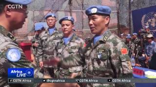 In South Sudan, 331 Chinese peacekeepers have been feted for their work in the country. The peacekeepers who included a...