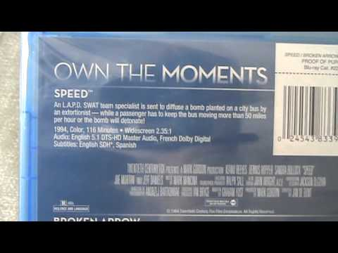 Speed/Broken Arrow/Entrapment 3 Pack Blu-Ray Unboxing