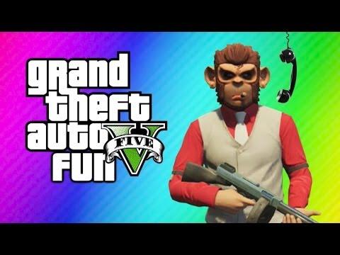 GTA 5 Online Funny Moments - Vanoss Vs. Bicycle, Launch Glitch, Lui Calibre Prank Calls his Mom!