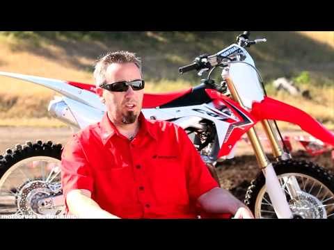 Crf450 - Motocross Action magazine rode the all-new 2013 Honda CRF450 at Zaca Station motocross park. Hear all about what Honda did to their 450 four-stroke for the u...