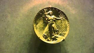 Rare Coins - 1907 $20 Gold American Eagle Ultra High Relief design by Augustus Saint-Gaudens