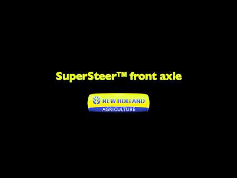 New Holland T6-Tier4A Tractor - T6 SuperSteer front axle animation