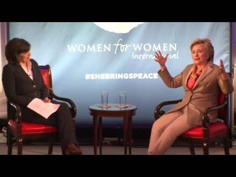 Hillary Clinton Interview With Christiane Amanpour At Women For Women