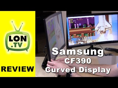 Samsung CF390 Display Review - 1080p 24 inch curved monitor - LC24F390FHNXZA