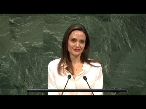 Angelina Jolie (UNHCR Special Envoy) at the UN Peacekeeping Ministerial 2019