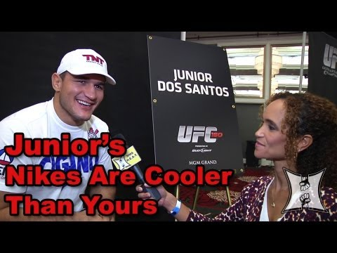 mark - MMA H.E.A.T.'s Karyn Bryant talks with former UFC Heavyweight Champion Junior Dos Santos, who is set to face Mark Hunt at UFC 160 on May 25, 2013. Cigano tal...