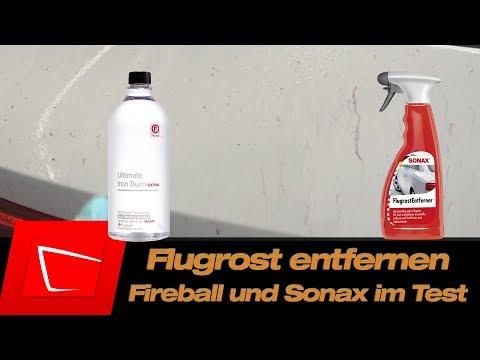 Fireball Iron Burn extra und Sonax Flugrostentferner im Test - Flugrost entfernen