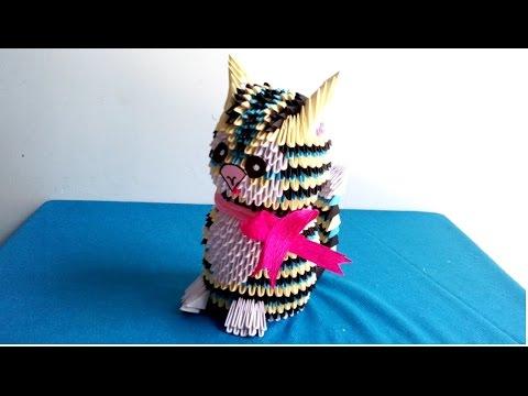 How to make a cat by d origami - Hướng dẫn làm con mèo bằng giấy xếp origami d