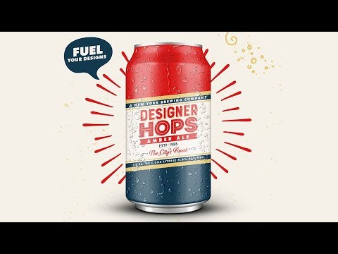 PHOTOSHOP AND ILLUSTRATOR TUTORIAL | How To Design A Beer Can Label And Poster