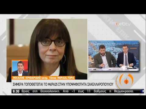 Το ΜέΡΑ25 για την υποψηφιότητα Σακελλαροπούλου | 16/01/2020 | ΕΡΤ