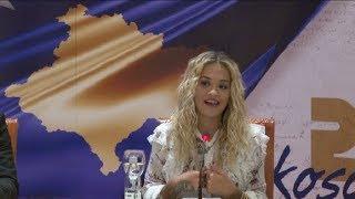 Rita Ora në konferencë për media (Drejtpërdrejt)