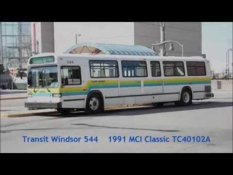 TC40102A - You are viewing 544, a 1991 MCI Classic TC40102A operated by Transit Windsor departing the Windsor International Transit Terminal on route 5B Dominion. This ...