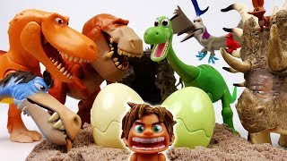 Video Good Dinosaur, Run~! Dino Egg Hunters Are Coming - ToyMart TV MP3, 3GP, MP4, WEBM, AVI, FLV Maret 2018