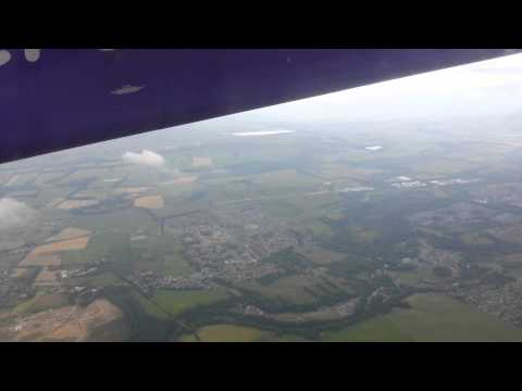 Flybe Dash 8 Q400 Takeoff Edinburgh – Great views!