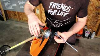 3. Stihl FS 90R Overview, brushcutter installation how-to, and demonstration