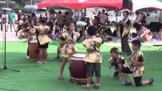 羽黒の夏祭り(14)和太鼓・羽黒児童セン
