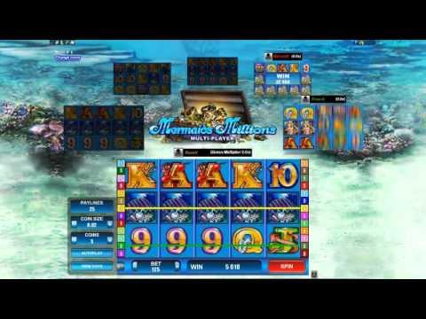 Multiplayer Mermaids Millions Slot Gameplay